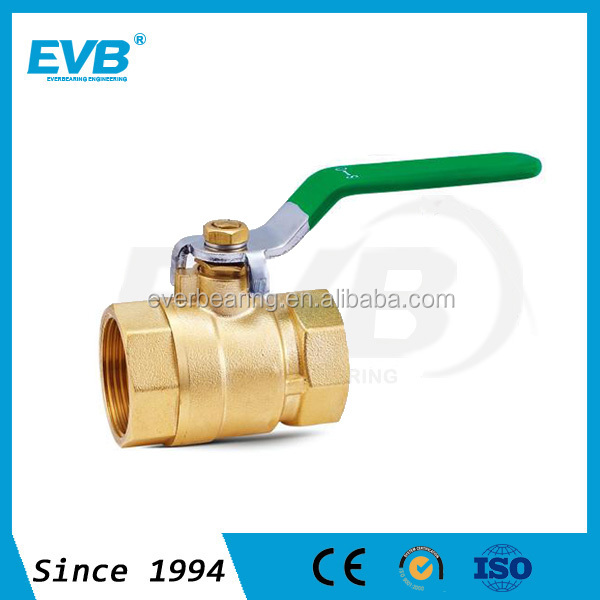 Made in China male/female brass ball valve and forged CW617n material and long alum handle and full port CE approved
