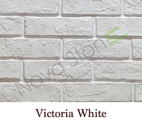 PU white brick wall panels faux stone panels for interior and exterior decoration