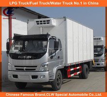 clw factory direct sales FOTON 4x2 mini refrigerated van truck