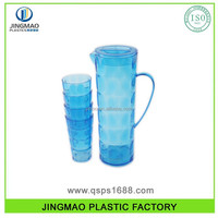 Colored Plastic Juice pitcher with 4 Cups set