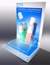 Acrylic cosmetic display stands, beauty display rack, centerpiece acrylic display stand