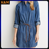 Lesel Jean long sleeved shirt dress