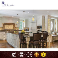 Hot selling china complete fitted kitchen cabinets with precut granite countertops