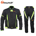 New Fashion Motorcycle Riding Apparel Racing Leathers Jacket And Trousers Set
