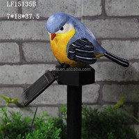 2016 new Lovely resin bird garden decorative solar lights