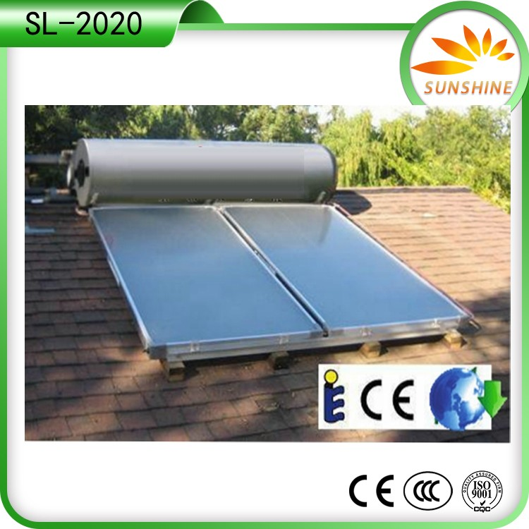 300 liters 2KW Economic stainless steel pressurized compact solar water heater from Guangdong