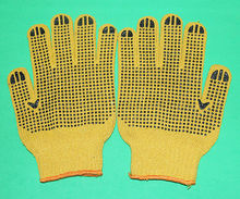 industrial cotton gloves grip dots working gloves