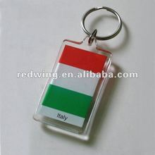 Acrylic National Flag keychain For Premiums