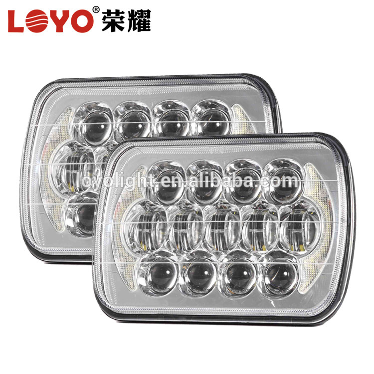 5x7 truck headlight led 7 inch square 85w headlight for Jeep Wrangler YJ