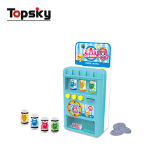 New style toy machine mini arcade toy children play house drink vending machine diy toy set