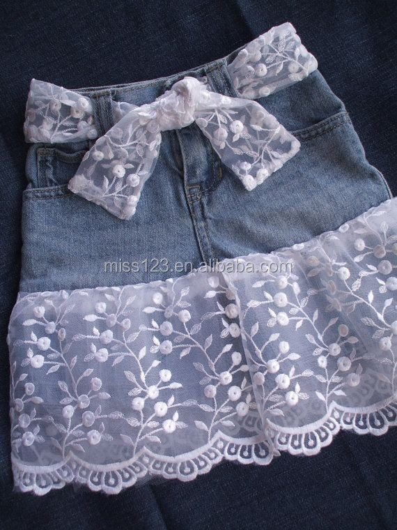 2015 Hot! Fashion Korean children's skirt/ Kids denim skirts /Wholesale denim skirts for kids