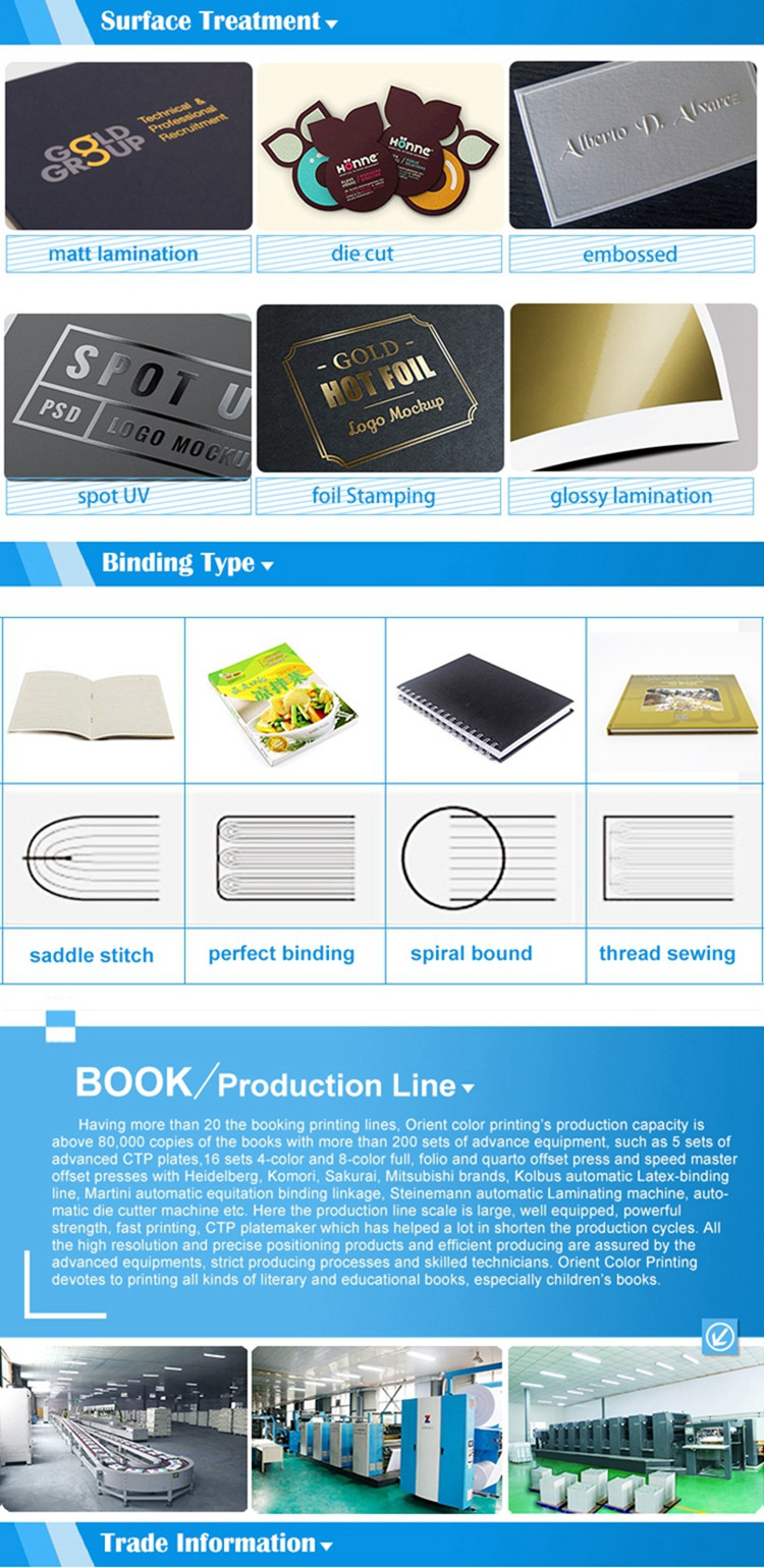 2016 good quality factory supply Custom coloring book printing hardcover with good price