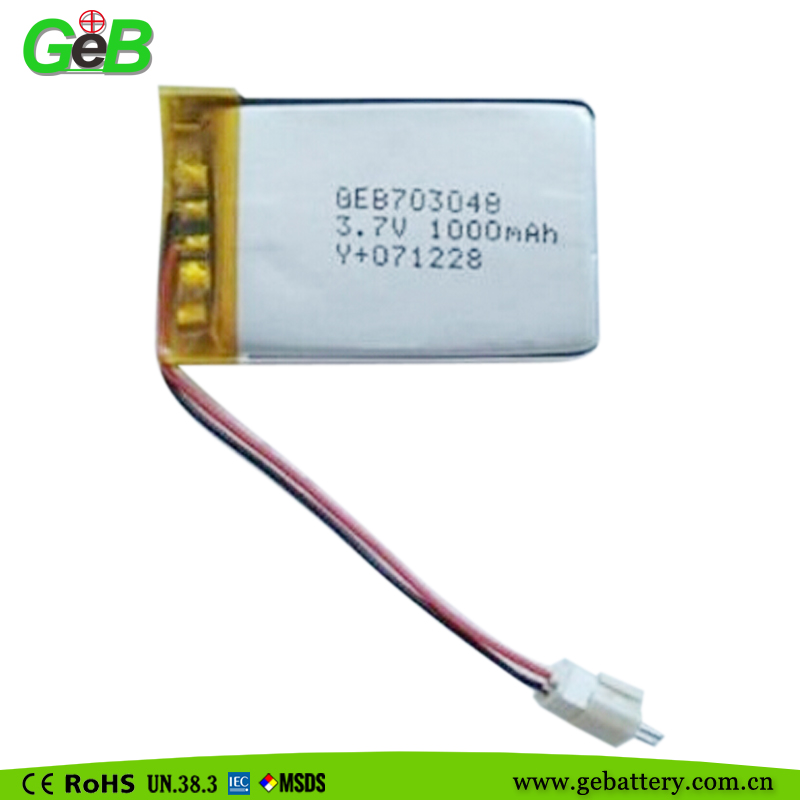 Electric toy custom lithium battery GEB7030483.7V 1000MAH