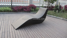 Beach Chaise Lounge Chairs S Shape Lounge Daybed In PE Rattan
