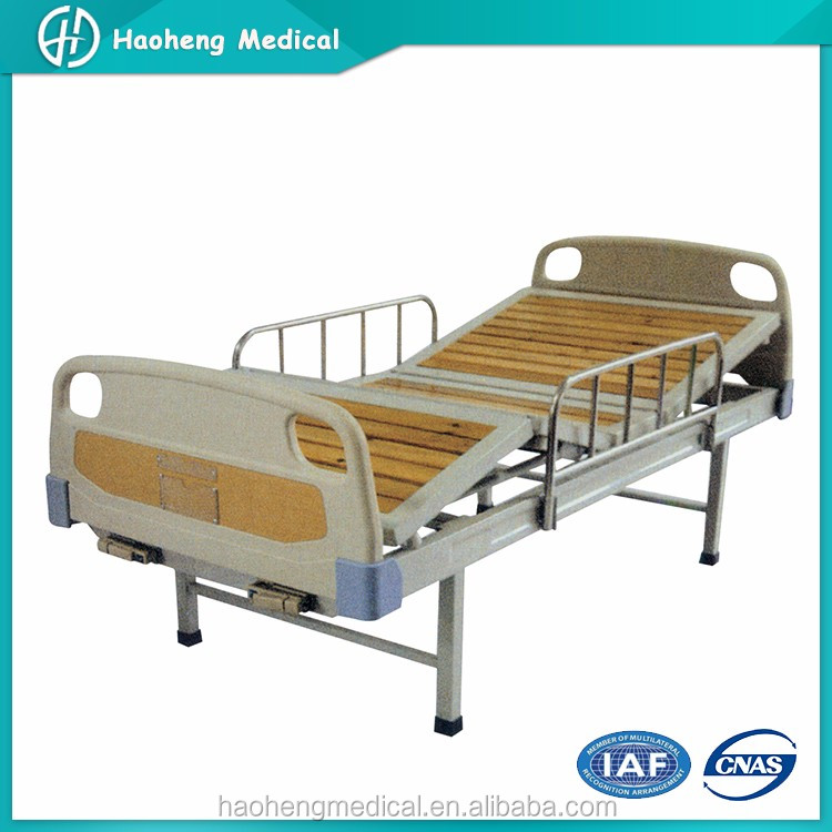 Promition Model 2 Cranks Used Manual Hospital Bed For Sale