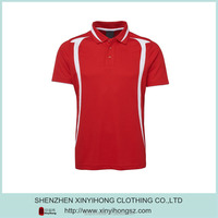 Red color New design Mens 100% polyester Dri Fit custom golf shirts