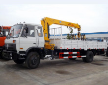 Dongfeng 5 tons Telescopic Boom Truck Mounted Crane for sale