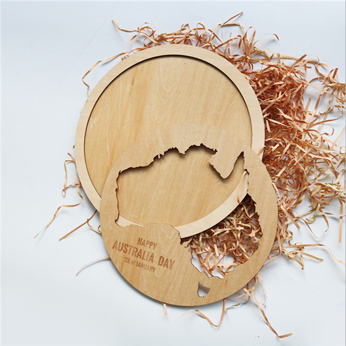Wooden Spain Map Beer Cap Holder Wooden Beer Cap Collector
