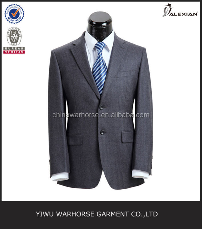 100% wool stripe slim fit trendy men suits