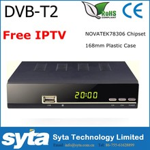 Syta OEM DVB T2 IPTV FTA Satellite Receiver NT78304+R836 DVB-T2 Digital TV Tuner 168mm S1023IPTV