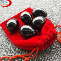 Wholesale 100% Natural Black Obsidian Jade Eggs Set Yoni Eggs for Women Sex Toys