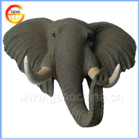 Elephant head decorative with hanging wall hooks for home decoration
