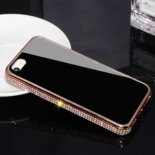 New arrival Metal Bumper for iphone5/5s case 18k full diamond made in china,diamond bumper case