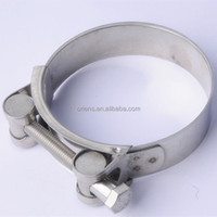 High Pressure Cheap Stainless Steel Double Bolt Hose Clamp