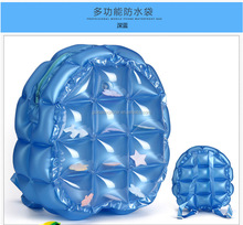 2017 fashion outdoor waterproof PVC bubble inflatable large capacity <strong>backpack</strong>