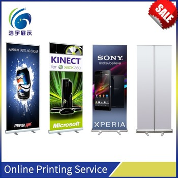 Aluminum Exhibition and Event Hand Roll Up Banner