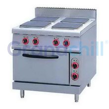 4 Square Cooking Plates Electric Hot Plate Cooker With 1 Baking Oven