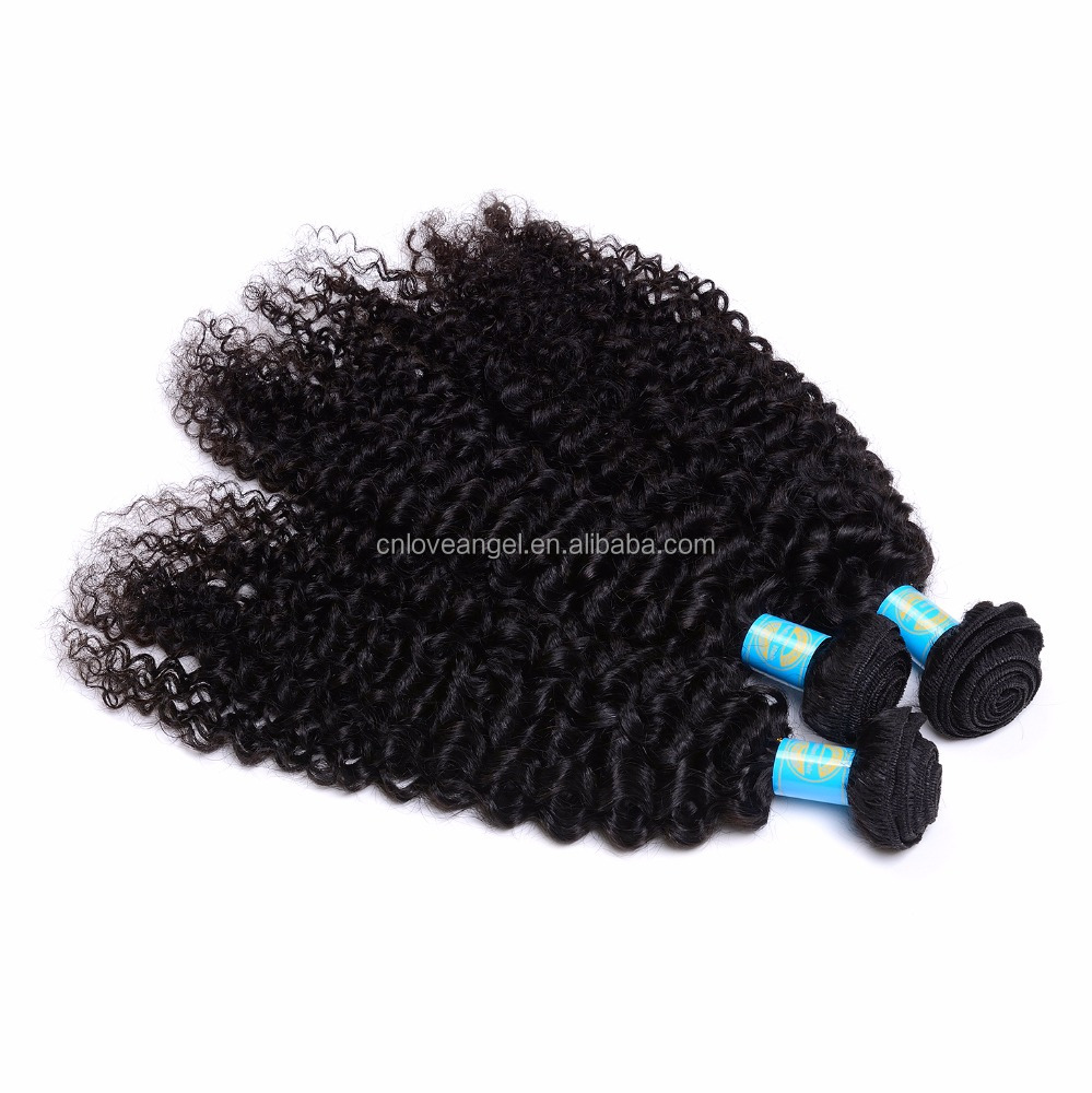 Full curicle tangle free no shedding raw unprocessed jerry curl indian hair origianal indian directly supply from india