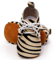 2016 new designs zebra wholesale china baby moccasins shoes factory baby Oxford shoes