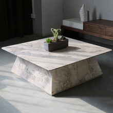 Modern Italian marble top coffee table ,European square end table for home