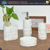 Factory price white embossed ceramic bath accessory bathroom set for wholesales