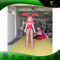 Sex Japanese Cartoon Red Inflatable Anime Girl / PVC Inflatable Bunny Doll / Gaint Inflatable Pink Sexy Girl For Sale