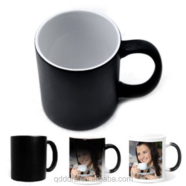 fashion Customized Promotional Temperature Color Change Cup/Magic Color Changing Thermal Mug