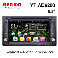 Android 4.4 car radio 2 din android car dvd/Universal 2 din 6.2 inch car dvd player/2 din car pc