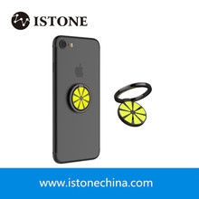 New Arrival Phone Ring Holder 360 Rotation Lemon Cell Phone Kickstand Finger Grip Mount For iPhone