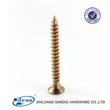 DIN7505 double countersunk head stainless steel pozi chipboard screw