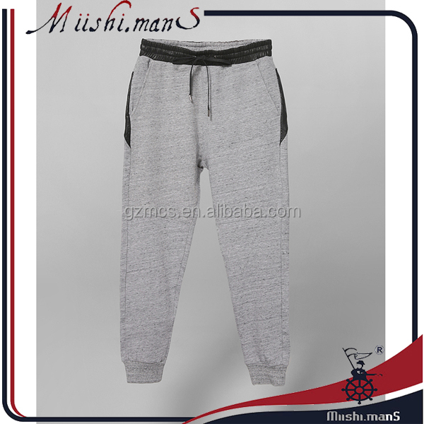 Ankle Banded Baggy Leather Pants for Men from Clothing Manufacturer