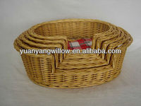 2013 hot sale decoration handmade weaving gold pet willow basket