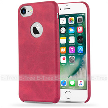 New Arriving ultra slim retro leather back case for iPhone7, for iPhone7 leather cover case