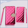 New arrival square appearance With metal and diamond magnet, card bags, stand, rope tpu phone case for iphone 6 clear case