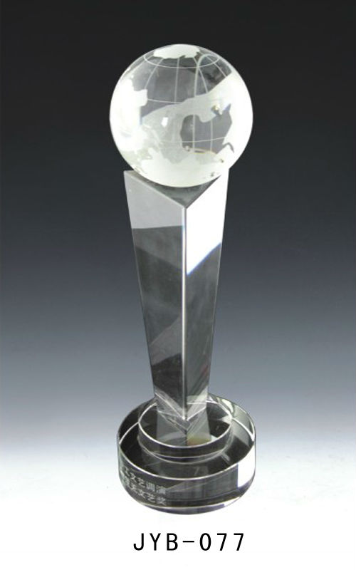 lucky round ball crystal trophy for personal decoration