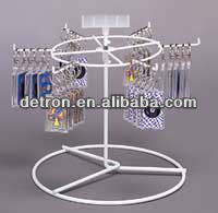 rotating wire rack counter wire display keychains spinner stand