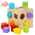 Wholesale Cheap DIY toy wooden shape box blocks,Shape Intelligence Box Wooden Educational Blocks Box Toy W12D017