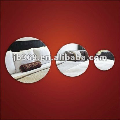 Round Acrylic mirror using for interior decoration