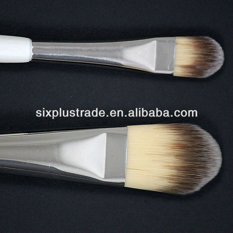 plactis handle refillable foundation goat hair brush/brush sets