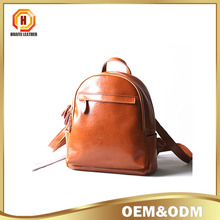 genuine leather unisex Backpack bag ,Designer leisure backpack , old leather women backpack